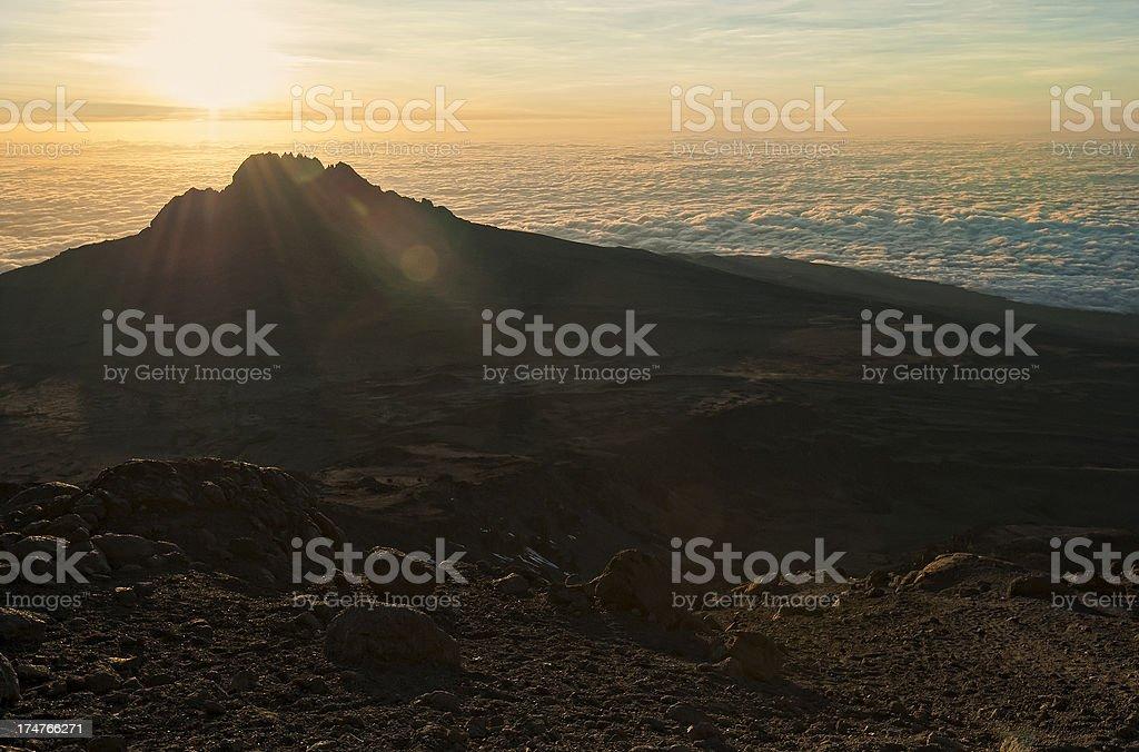 Mawenzi summit, Mount Kilimanjaro, Tanzania stock photo