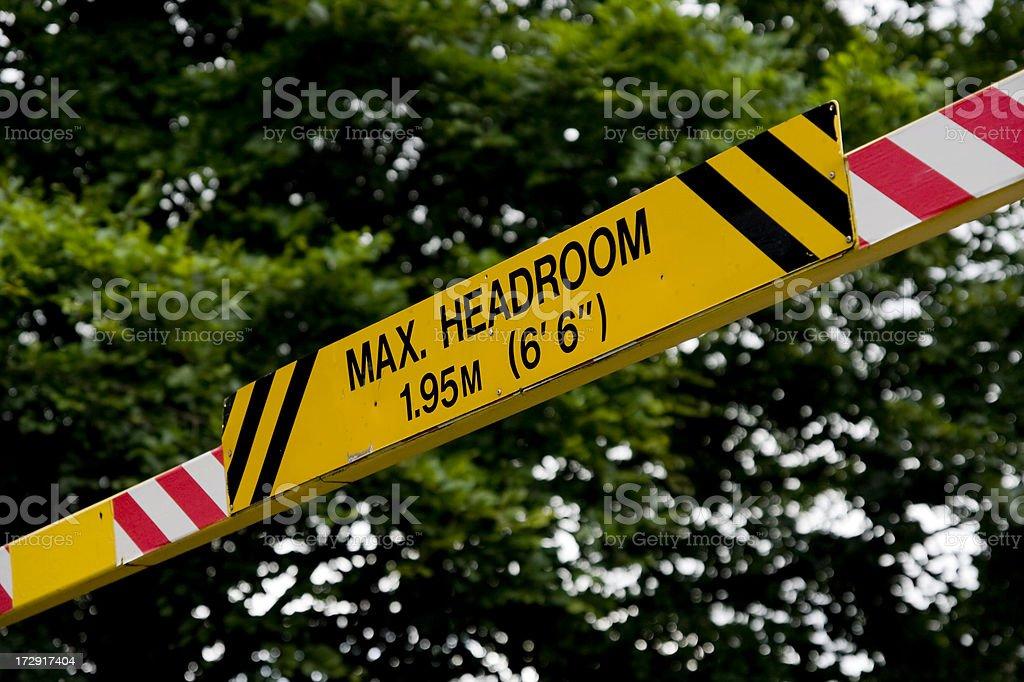 Max headroom - sign in a public car park stock photo