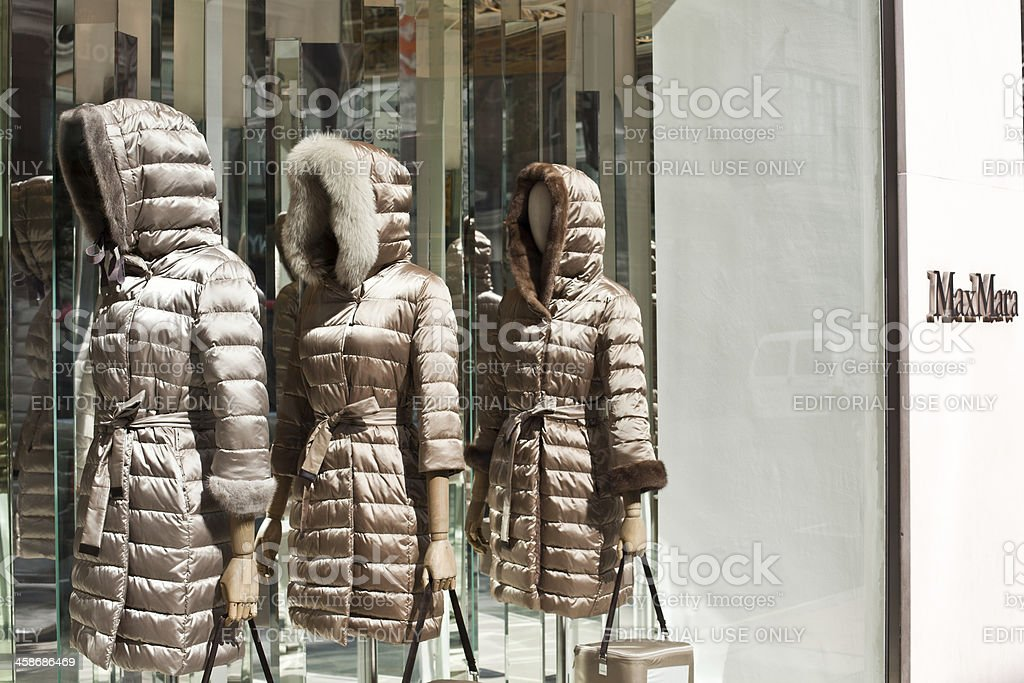 Max Mara Store and Mannequins in London stock photo