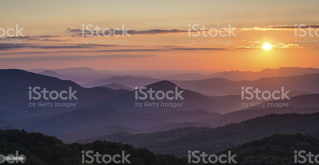 Max Patch Sunset stock photo