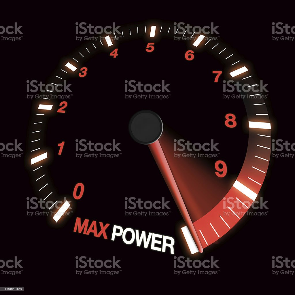 max power speed dial royalty-free stock photo