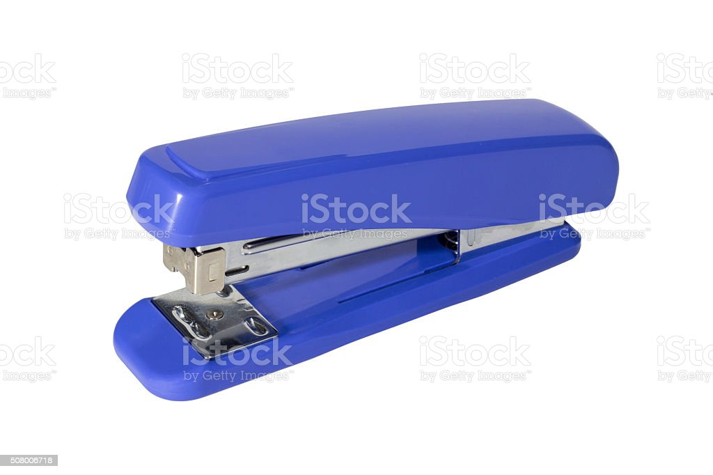 Max stapler isolated white background with path stock photo