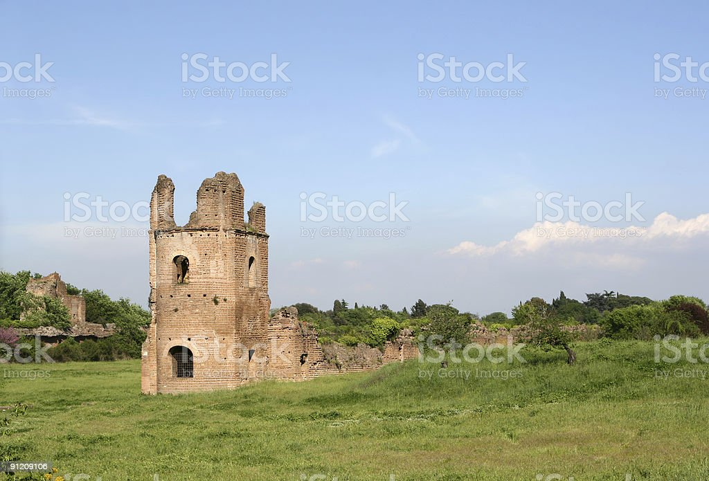 Maxentius' Circus at Via Appia Antica royalty-free stock photo
