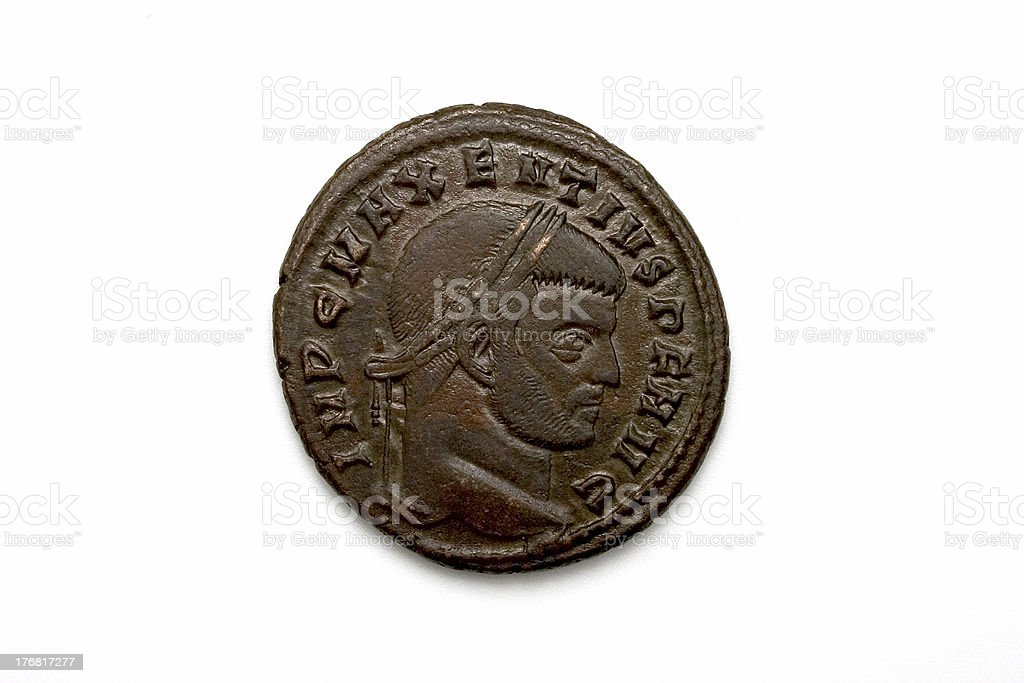 Maxentius roman coin royalty-free stock photo