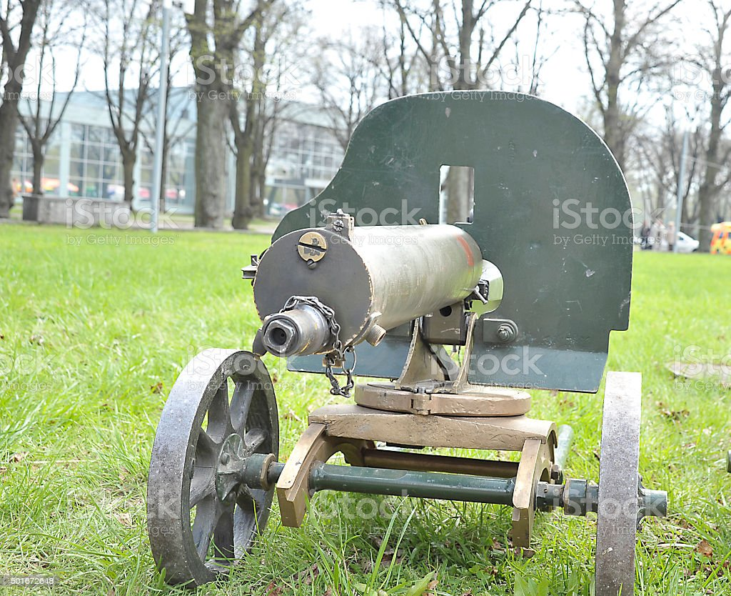 Maxim gun. stock photo