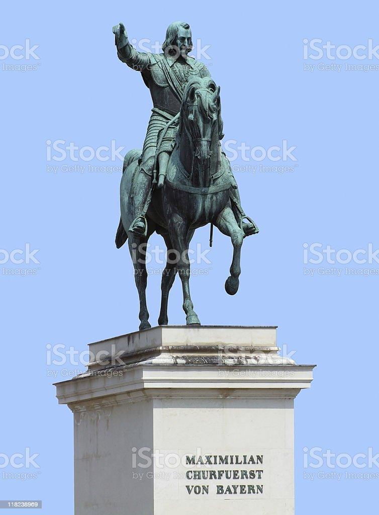 Maximilian statue in blue back stock photo