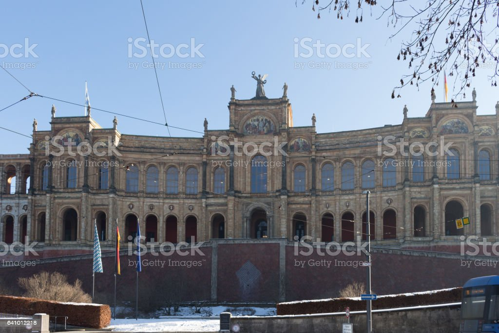 Maximilianeum - Bavarian state parliament stock photo