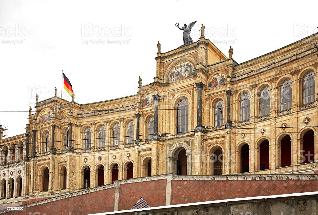 Maximilianeum building in Munich. Germany stock photo