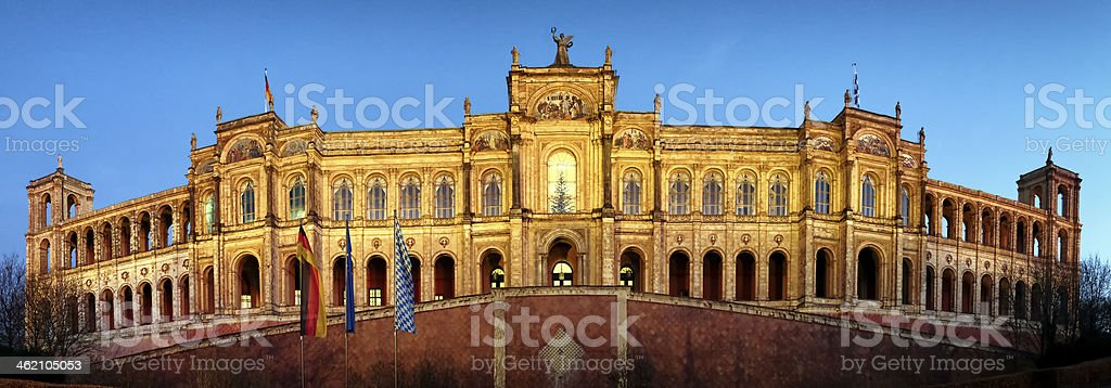 maximilianeum stock photo