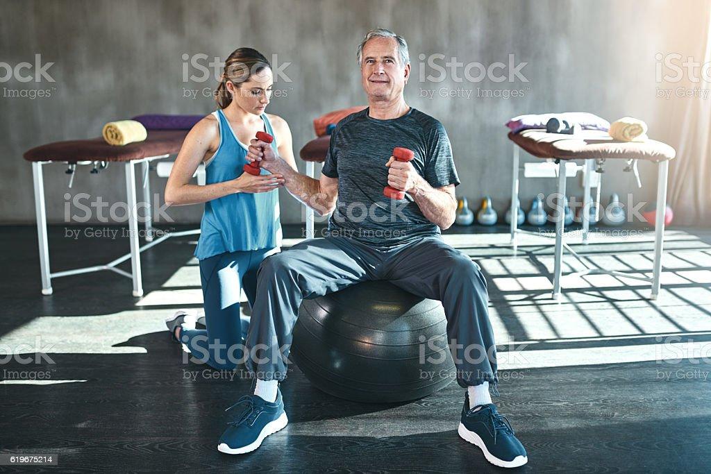 Maximizing mobility with regular physical activity stock photo