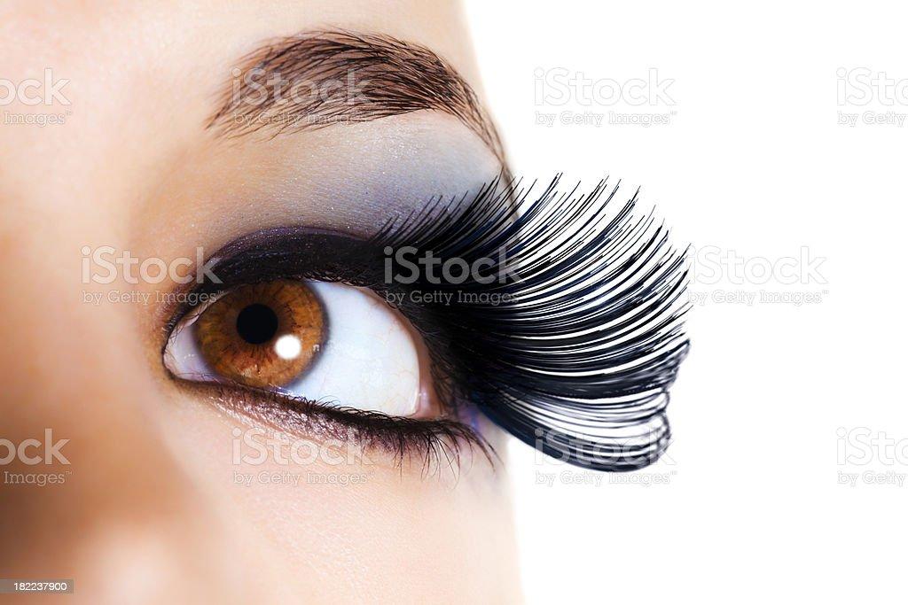 Maximum Volume Eyelashes - Black royalty-free stock photo