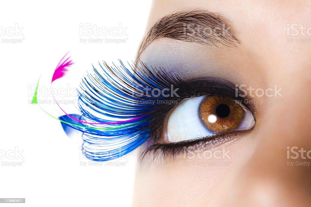 Maximum Volume Eyelashes stock photo