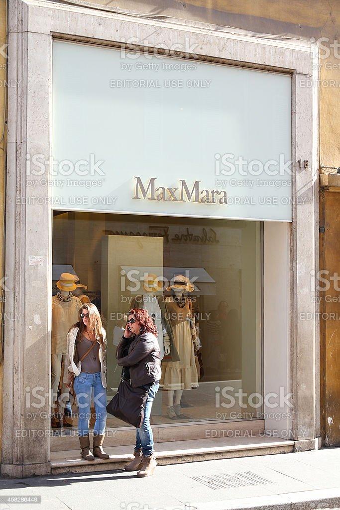 MaxMara fashion store royalty-free stock photo
