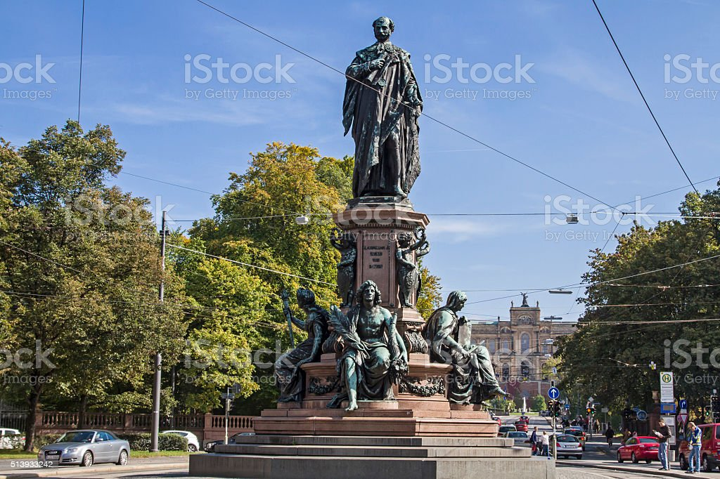 Maxmonument in Munich stock photo