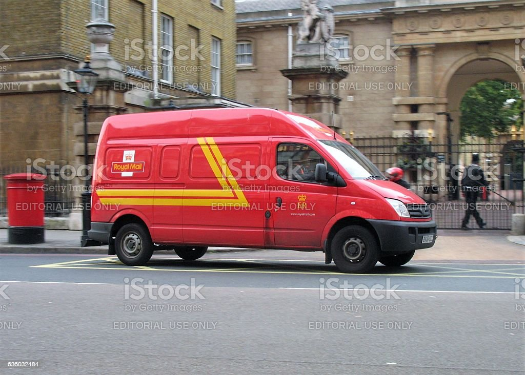 LDV Maxus - delivery van for the UK postal service stock photo