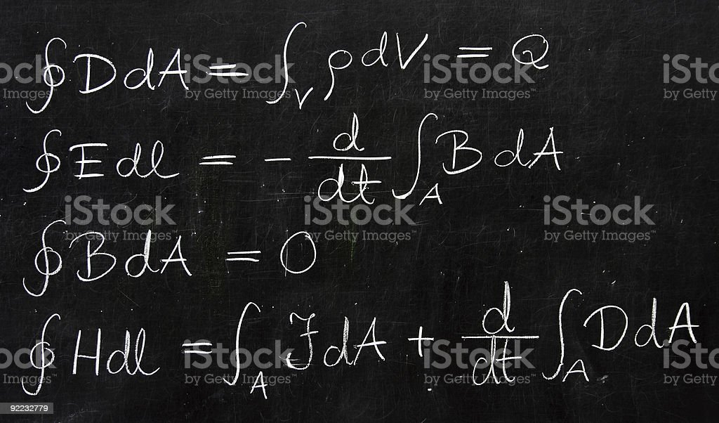 Maxwell Equations royalty-free stock photo