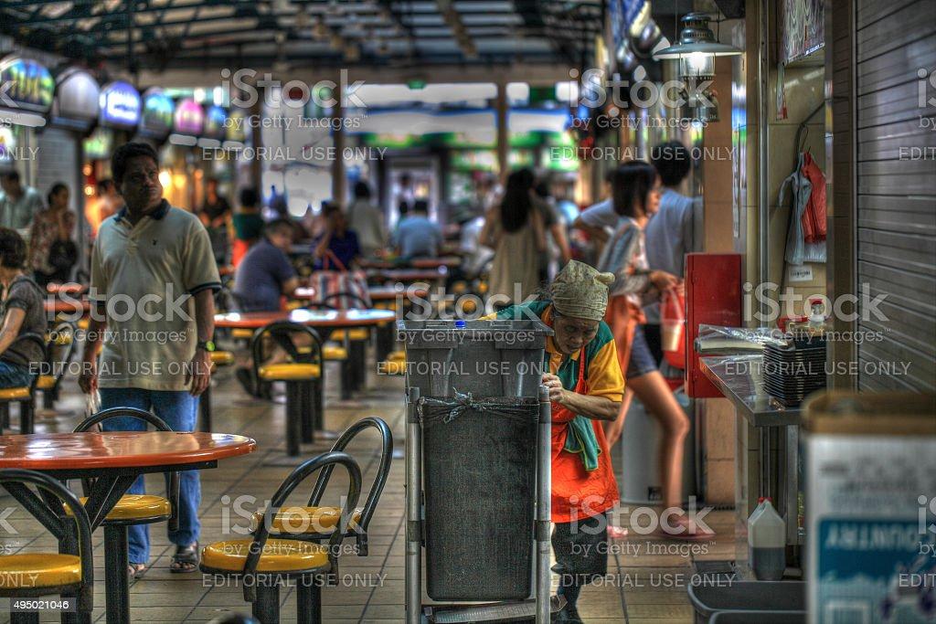 Maxwell Road, Singapore stock photo