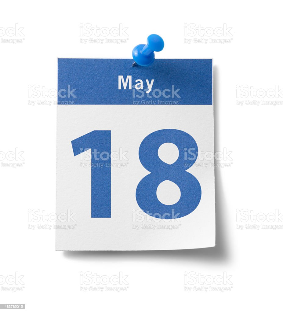 May 18th Calendar royalty-free stock photo