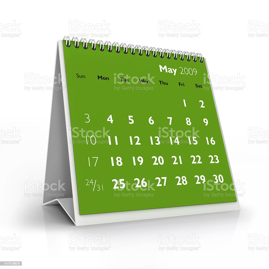 May. 2009 calendar royalty-free stock photo
