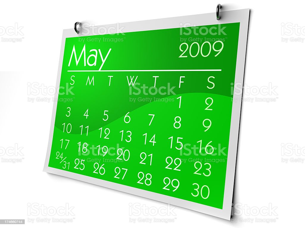 May 2009 royalty-free stock photo