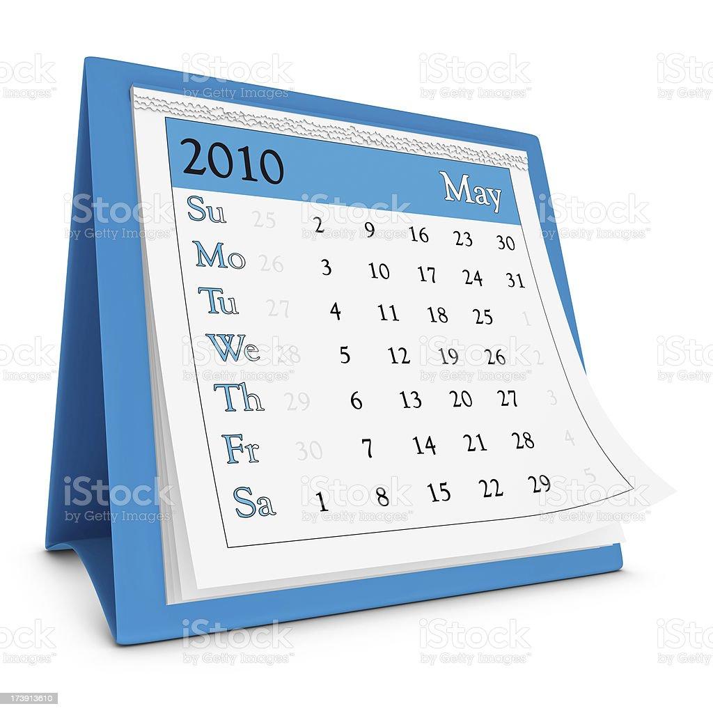 May 2010 - Calendar series royalty-free stock photo
