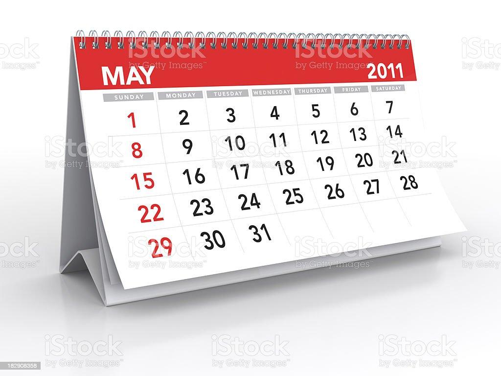 May 2011 - Calendar royalty-free stock photo