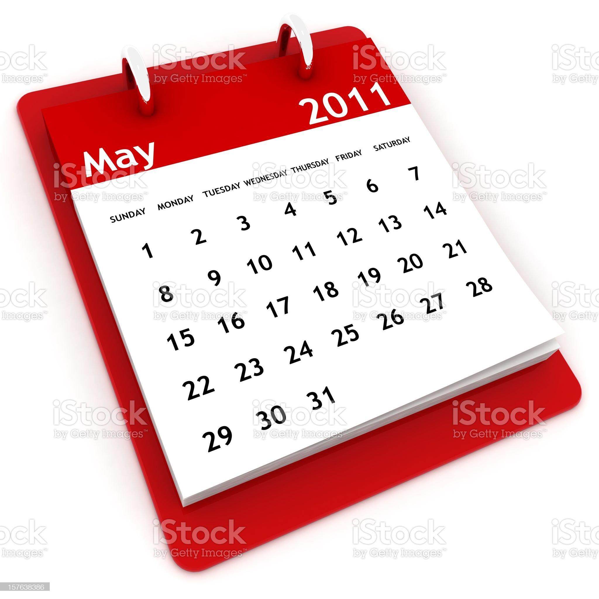 May 2011 - Calendar series royalty-free stock photo