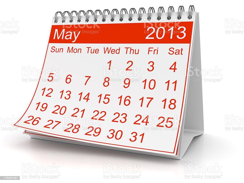 May 2013 royalty-free stock photo