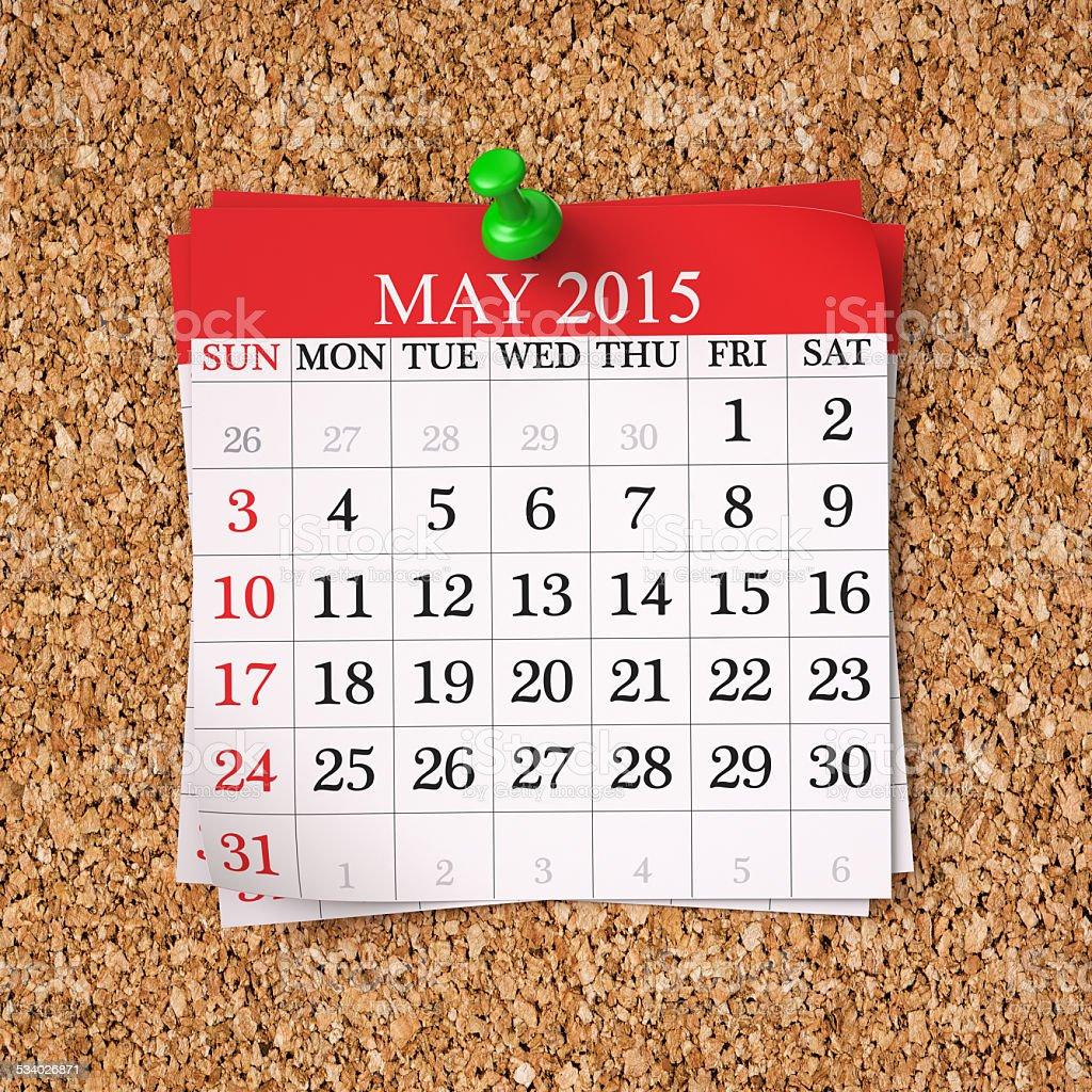 May 2015  Calendar stock photo