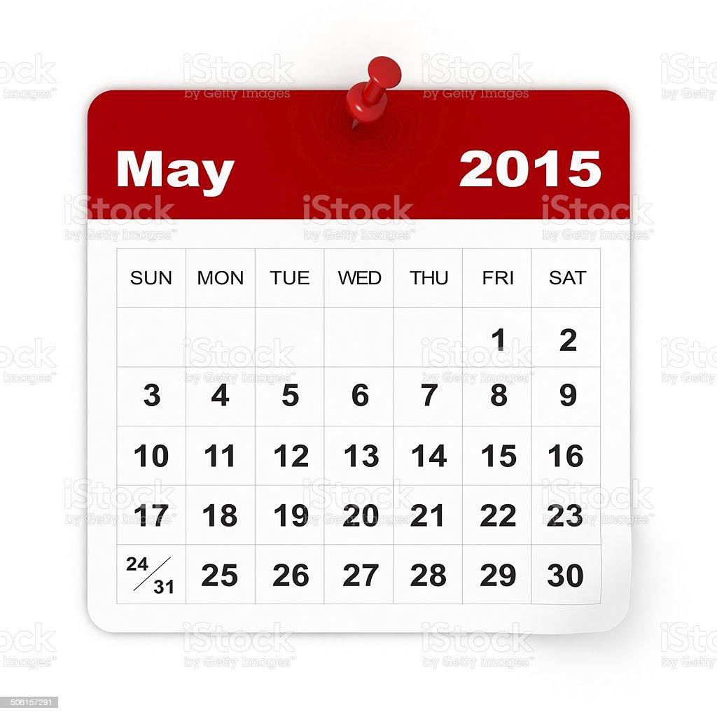 May 2015 - Calendar series stock photo