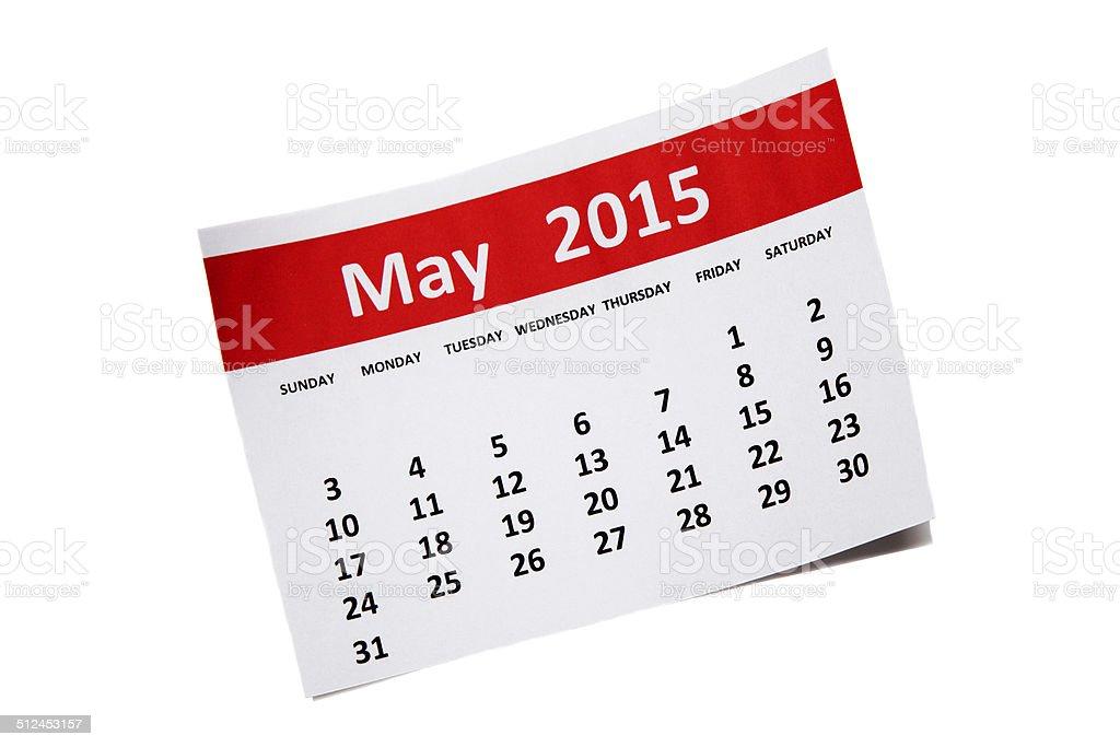 May 2015 stock photo