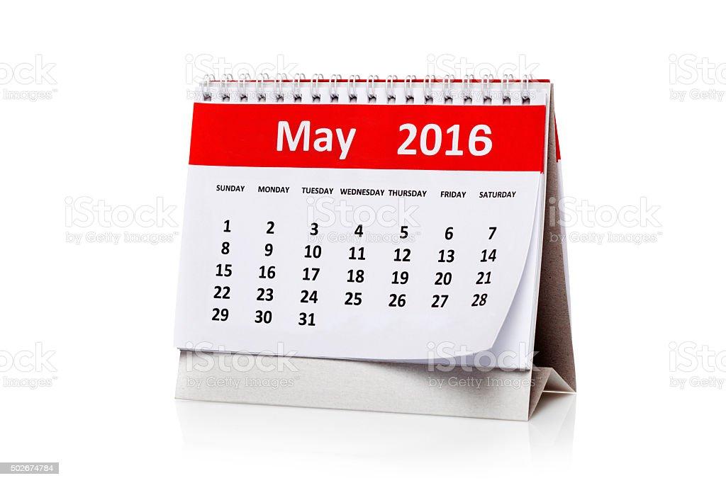 May 2016 stock photo