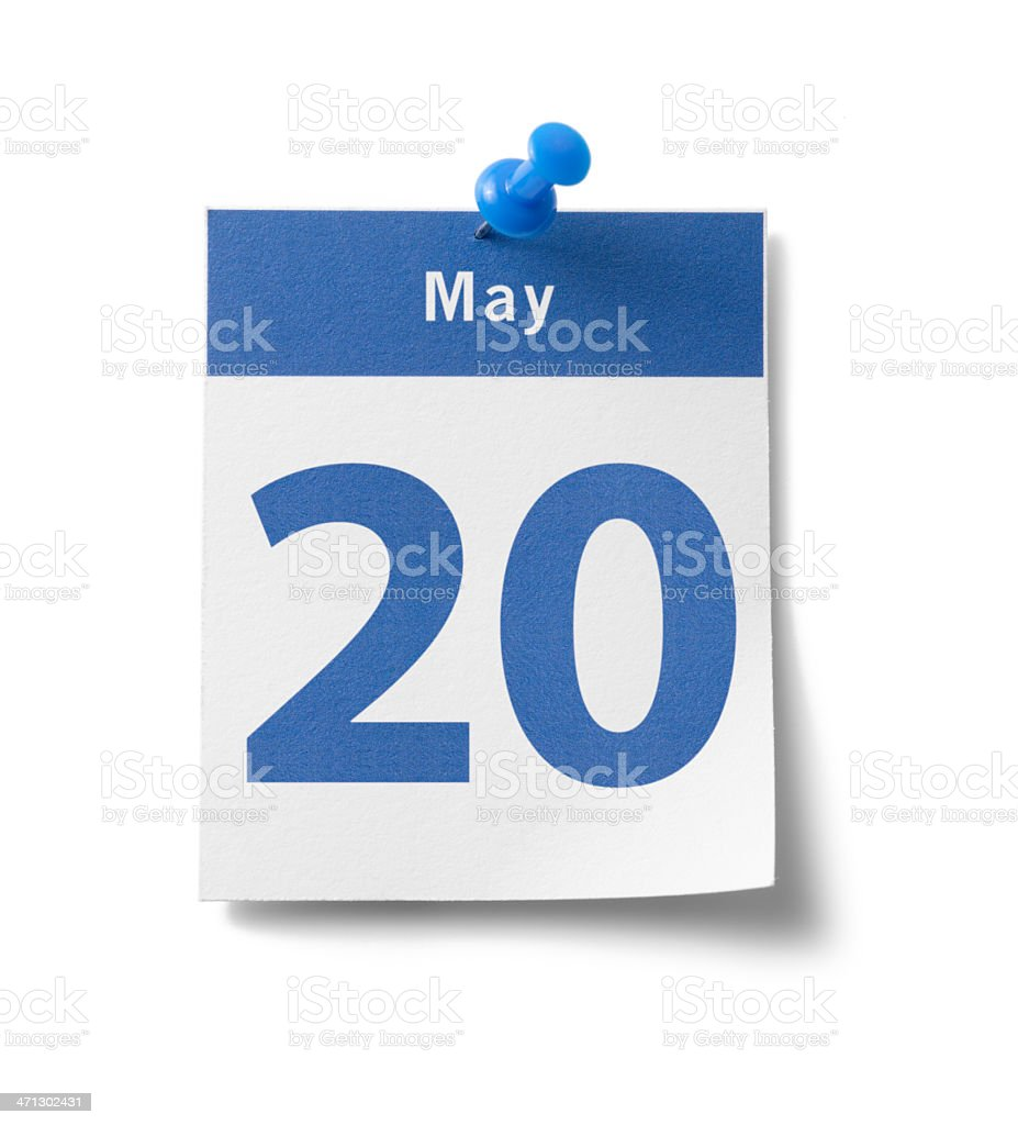 May 20th Calendar royalty-free stock photo