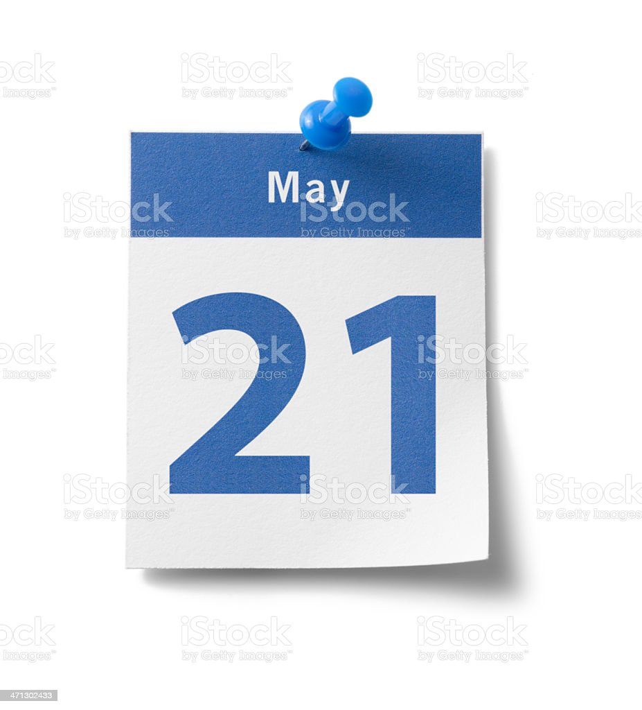 May 21st Calendar stock photo