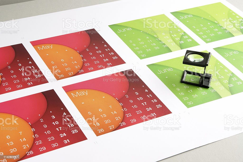 May and June hot off the press... royalty-free stock photo