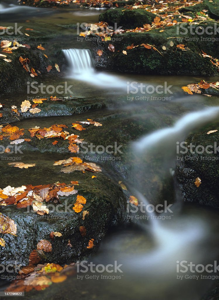 May Beck waterfalls, North Yorkshire stock photo