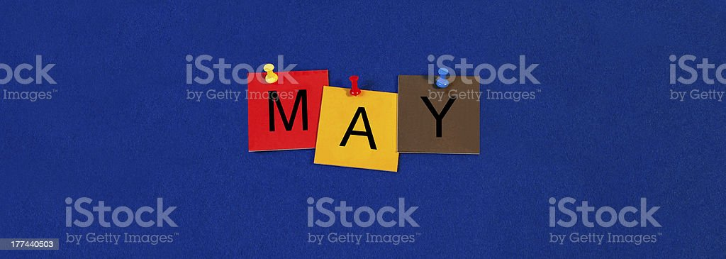 May - calendar and month series. royalty-free stock photo