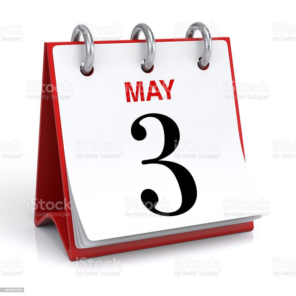 May Calendar royalty-free stock photo