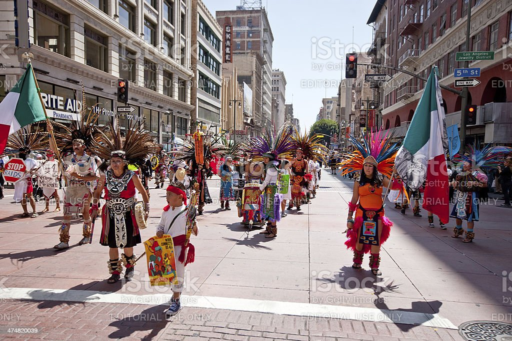 May Day Immigration Reform March, Los Angeles stock photo