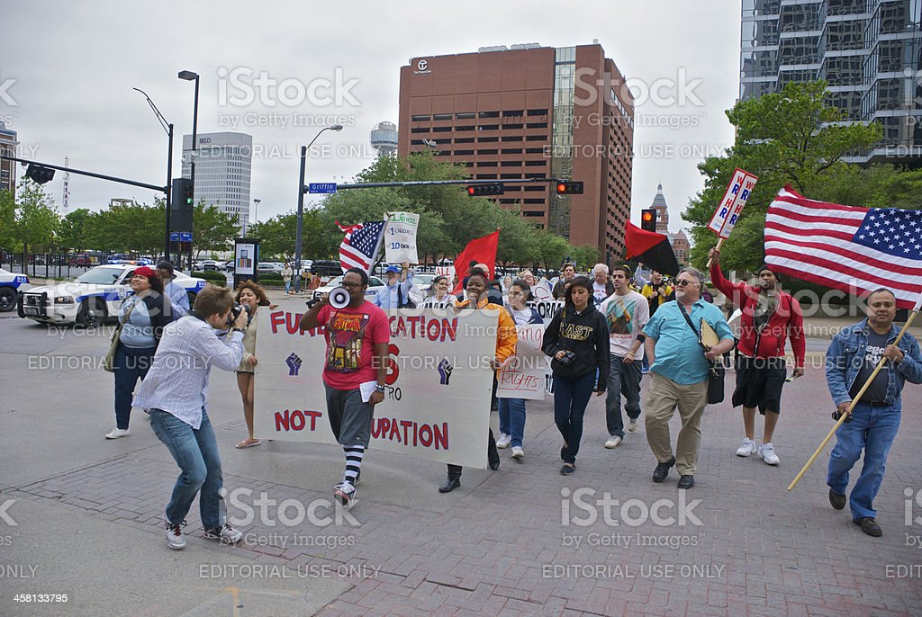 May Day March royalty-free stock photo