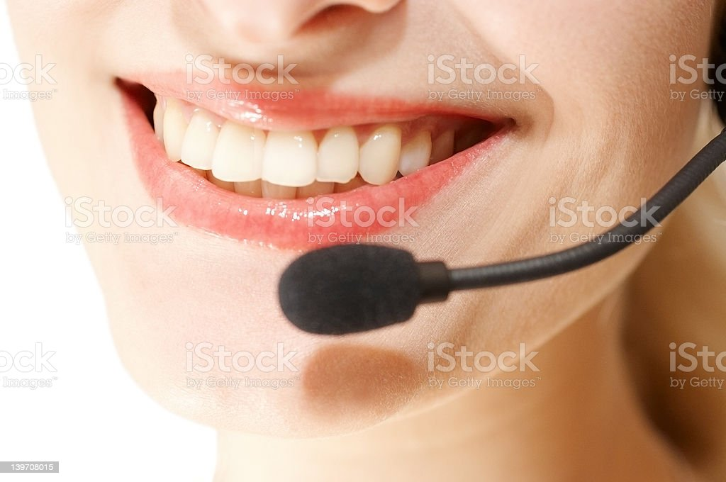 May I help you - Young Hotline Girl royalty-free stock photo