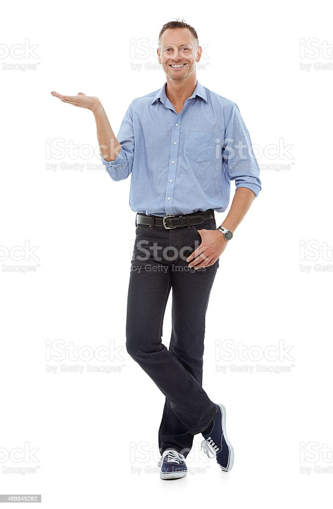 May I present...your copy stock photo