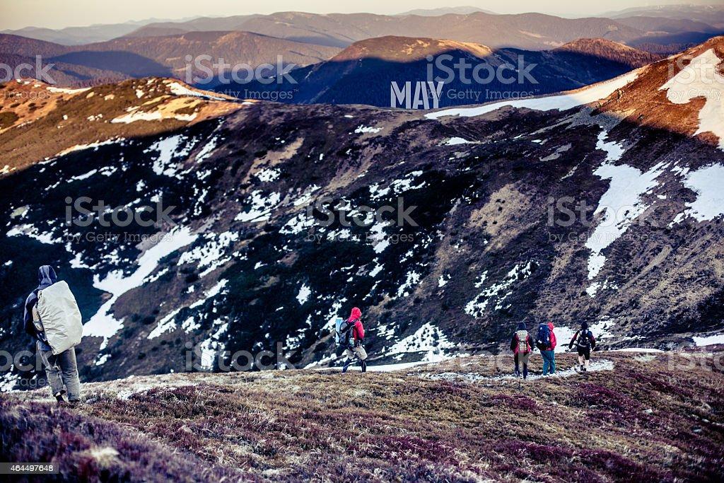 May. Mountains royalty-free stock photo