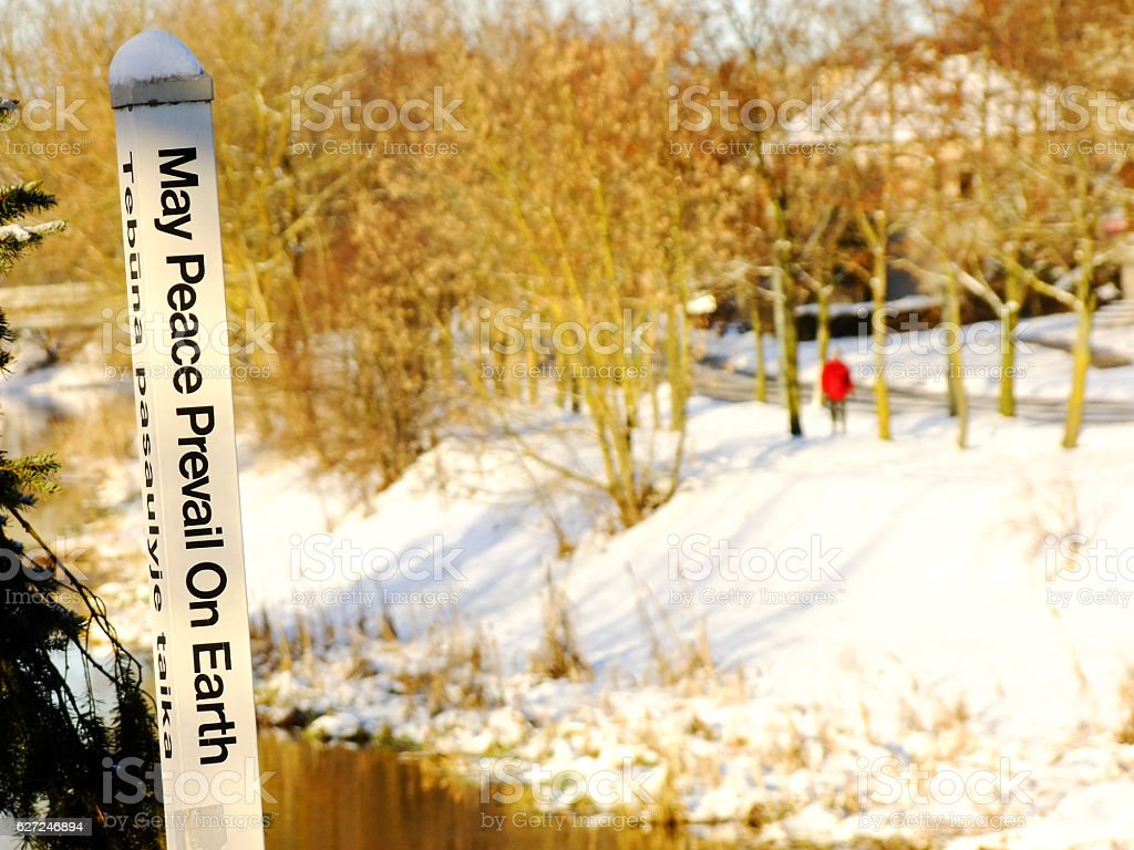 May Peace prevail on Earth stock photo