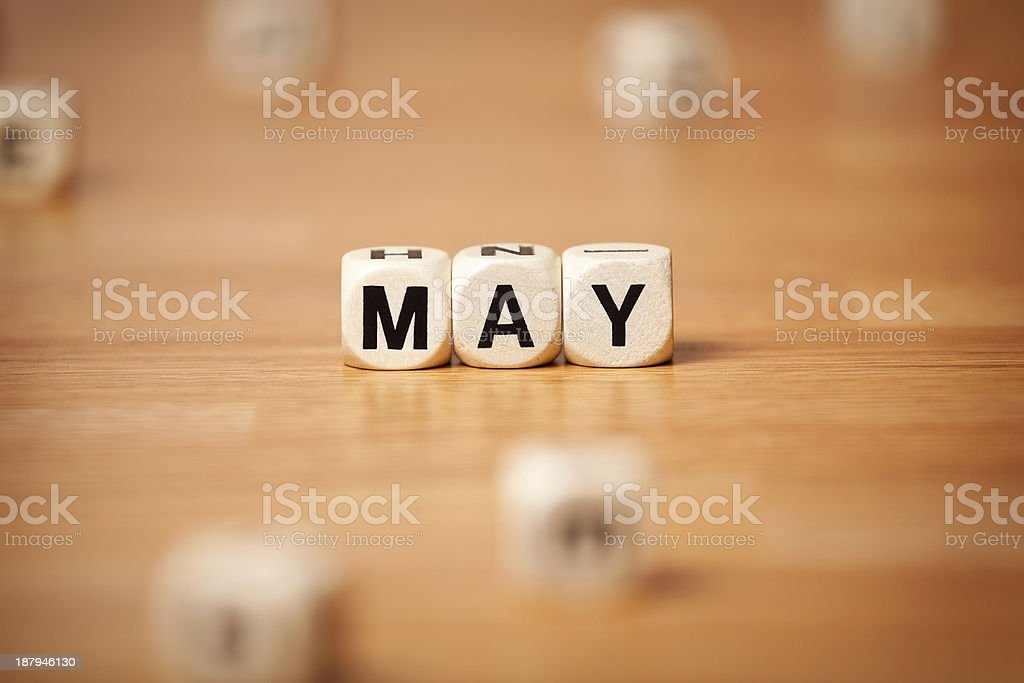May Spelled In Letter Cubes royalty-free stock photo