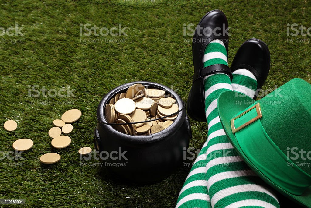 May the luck of the Irish be with you! stock photo