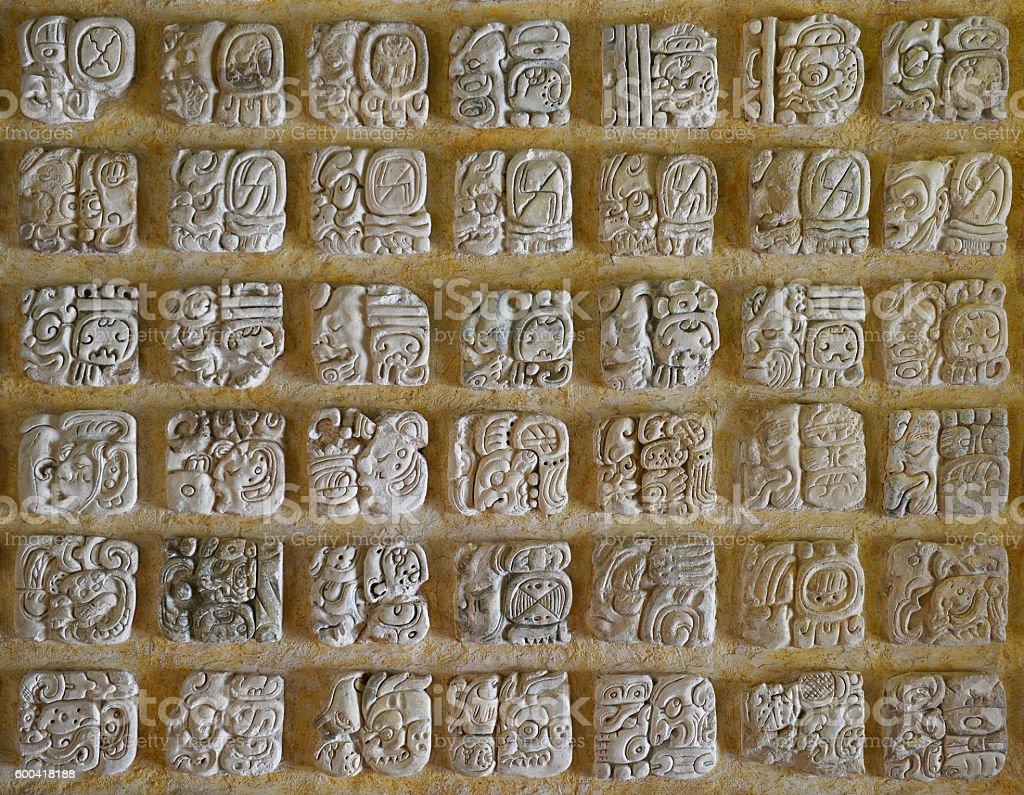 Maya Alphabet stock photo