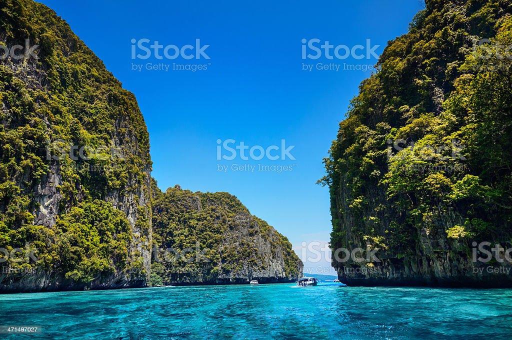 Maya Bay Ko PhiPhi Le in Thailand royalty-free stock photo