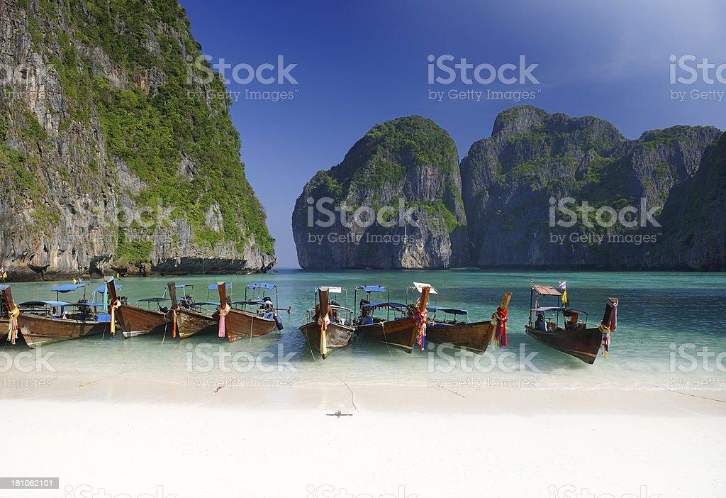Maya Bay, PhiPhi Islands, Thailand stock photo