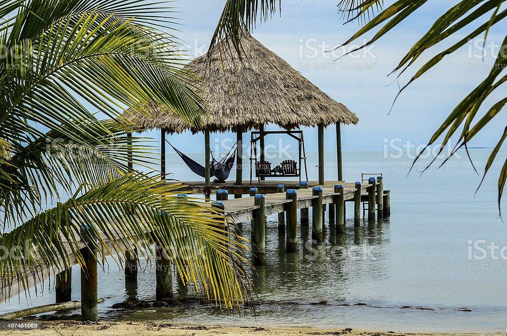 Maya Beach Pier stock photo